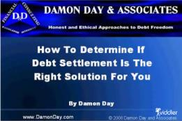 Debt Settlement Video