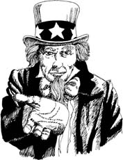 uncle sam hand out