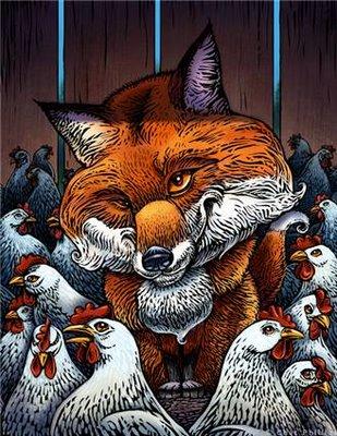 fox hen house